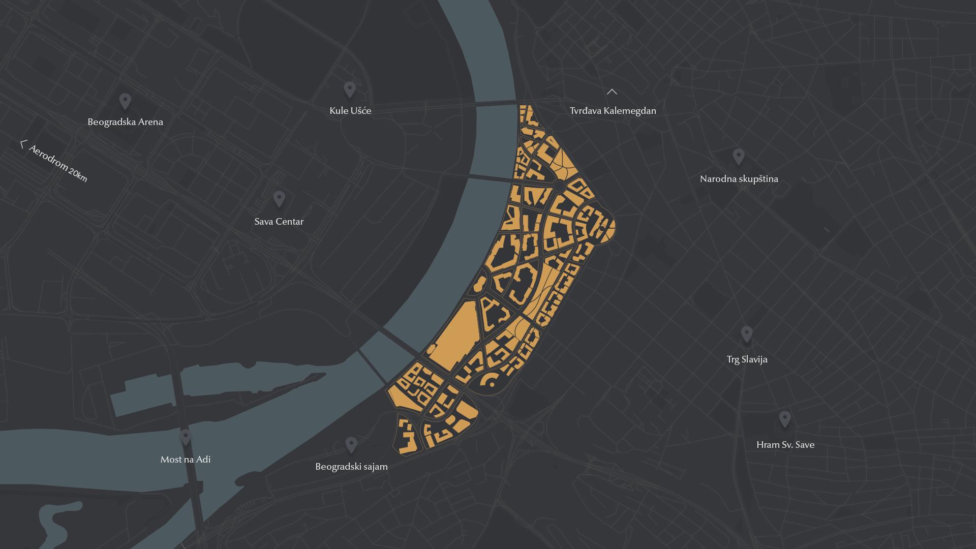 beograd na vodi mapa